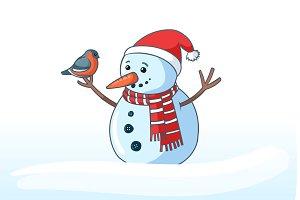 snowman vector character