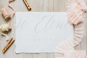 Styled Canvas Paper Mockup