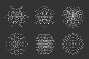 Circle shapes. Spirograph Mandalas