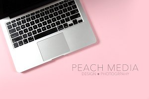 Styled Stock Photo | Pink Laptop