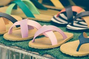 flip flop sandals retro style.