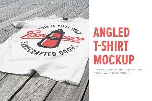 Angled T-Shirt Mockup