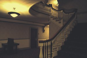 Eerie Hotel Staircase