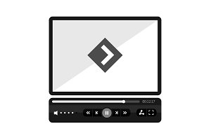 Video Player Flat Skin.