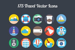 175 Travel Vector Icons