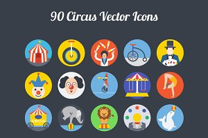 75+ Circus Vector Icons