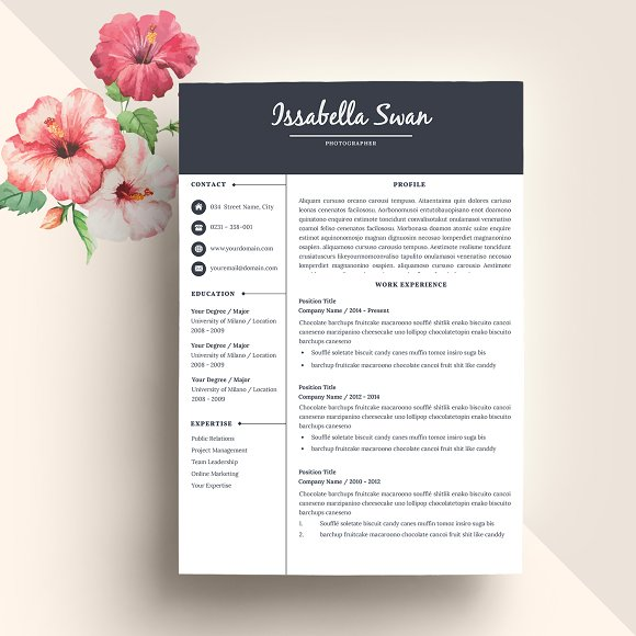 50% OFF Creative Resume Template