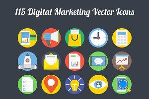 100+ Digital Marketing Vector Icons