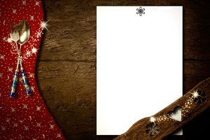Christmas menu background