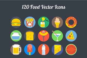 100+ Food Vector Icons