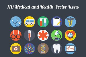100+ Medical and Health Vector Icons