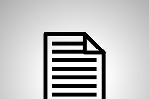 Simple black icon of document