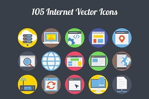 75+ Internet vector Icons