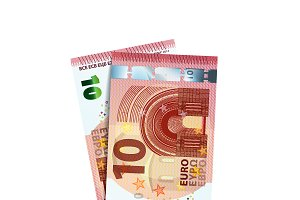 Couple of 10 euro banknotes