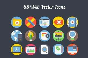 75+ Web Vector Icons