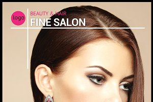 Beauty and Hair Salon Flyer