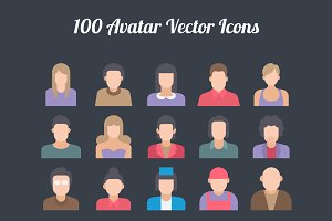 100 Avatar Colored Icons