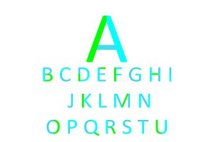 Flat font design, neon color vector