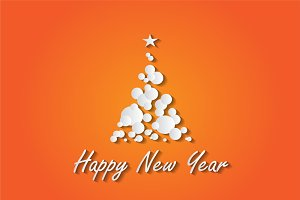 Happy New Year background orange