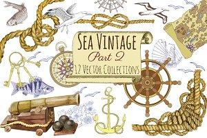 Sea Vintage Elements