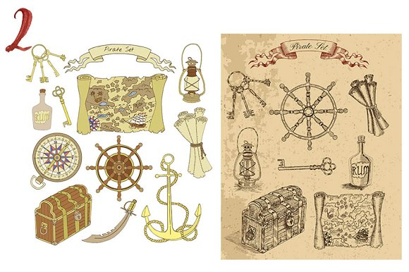 Sea Vintage Elements in Objects - product preview 2