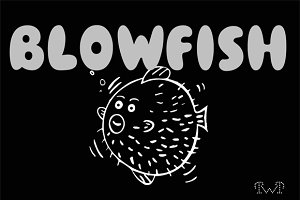 """BLOWFISH"" FONT"