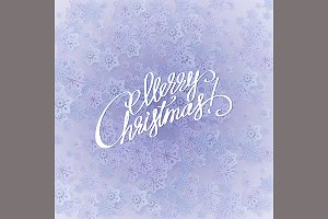 Merry christmas handwritten text