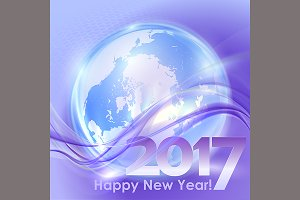 Happy New Year background with
