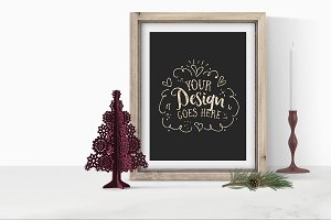 Holiday Frame Mockup with PSD