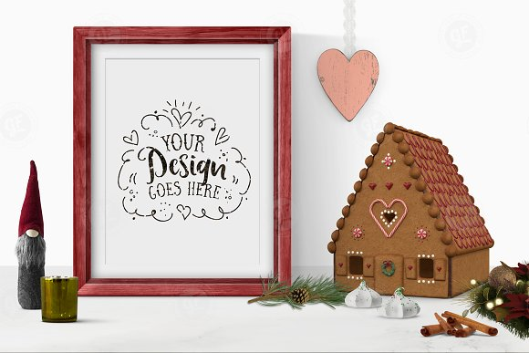 Download Christmas Frame Styled Scene Mockup