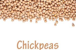 Chickpeas background