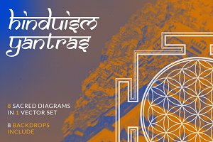 Hinduism Yantras vector set