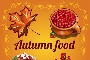 Autumn food and symbols