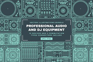 Sound speakers, audio & Dj equipment