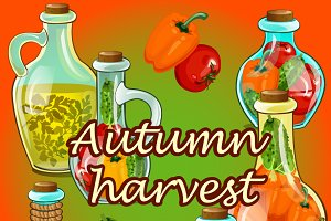 Canned vegetables, autumn harvest