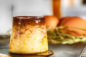 Homemade flan