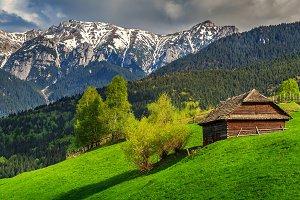 Spring alpine landscape,Transylvania