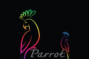 Vector of a parrot design.