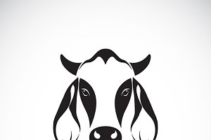 Vector of cow head design.