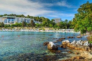 Wonderful coastline and beach,Rovinj