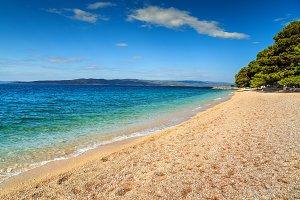 Beautiful bay with gravel beach