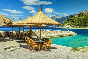 Amazing tropical beach bar