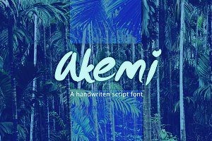 Akemi - Handwritten Script Font