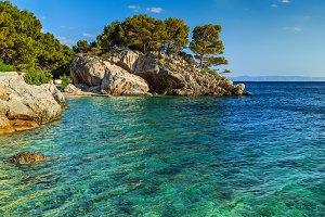 Beautiful rocky peninsula and beach