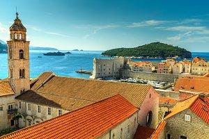 Dubrovnik city panorama,Croatia