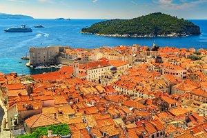 Dubrovnik city panorama