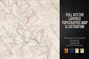 Vector Topographic Maps