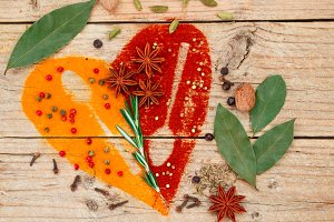 Heart of spices and seasonings