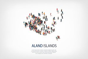 People map country Aland Islands