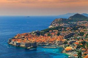 Dubrovnik panorama,Croatia